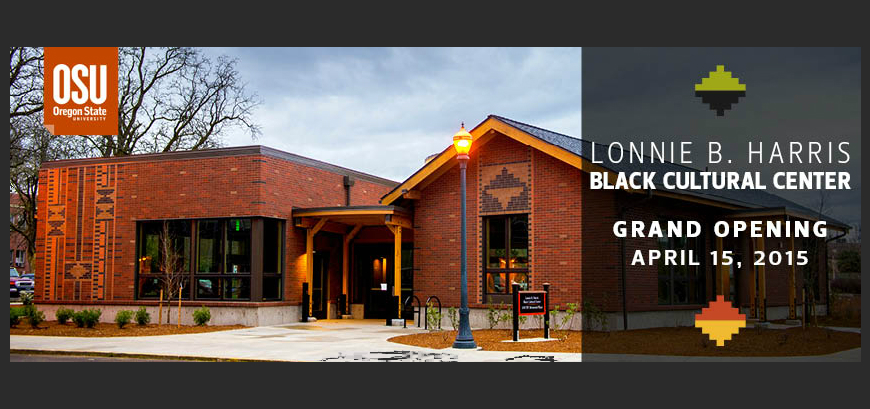 Invitation Announcement to the Groundbreaking of the Lonnie B. Harris Black Cultural Center (BCC)